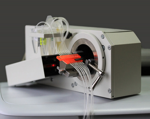 Eight Channel Electrochemical Surface Plasmon Resonance Spectrometer